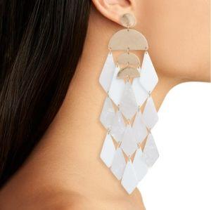 Stella & Ruby merengue resin drop earrings